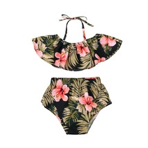 2pcs tops baby girl vest top floral shorts pant outfit - $8.92