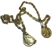 "Wilhelm Nederland Metal Coin Chain Belt  38"" Adjustable Belt J0389 - $15.19"
