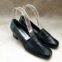 "Naturalizer Womens  825N11 Sz 6.5 N Black  Leather Slip On Loafer 2"" Blo... - $27.99"