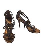 Giuseppe Zanotti Brown Strappy Sandals With Gold Accents Size 35 - $398.00