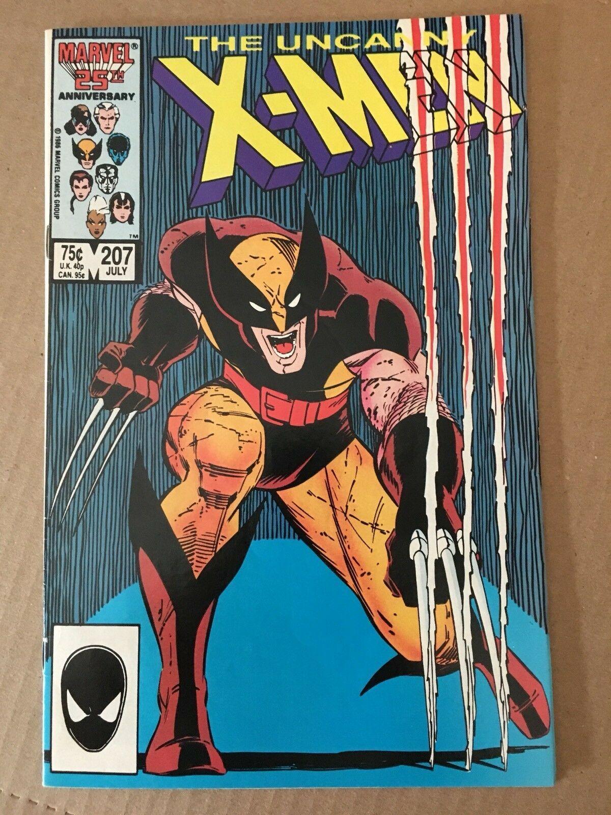 Uncanny X-Men 1st Series #207 1986 VF Condition Wolverine Marvel Comic Book