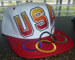 USA Olympics Basketball Team Vintage 90's Big Logo Snapback Hat - $44.54