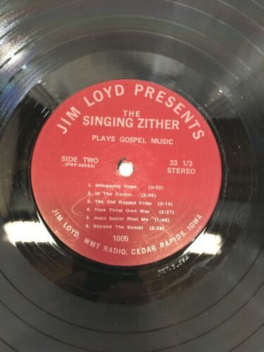 The singing zither plays Gospel Music Jim Loyd Record Vinyl
