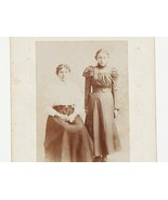 FREE SHIP: Antique Vintage Cabinet Photo of Two Conn. Women - Mother-Dau... - $5.23