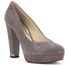 Women's Shoes Michael Kors SABRINA PUMP Slip On Dress Pumps Suede GREY - $99.00