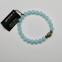 SILVER 925 BRACELET WITH HEMATITE AND JADE BLUE BPR-5 MADE IN ITALY BY MASCHIA image 2