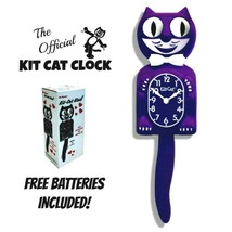 """ULTRA VIOLET Kit Cat CLOCK 15.5"""" Purple Free Battery MADE IN USA Kit-Cat... - £49.47 GBP"""