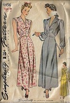 Vintage 1940's Simplicity Pattern 4456 Gown / Nightgown Pattern, Sz 34 - $16.99