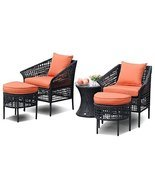 Hulaloveshop 5 PCS Furniture Sets Leisure Patio Rattan Dining Sets - £436.17 GBP
