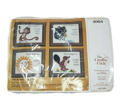VINTAGE 1981 CREATIVE CIRCLE # 4004 FRIENDLY REMINDERS EMBROIDERY KIT CRAFT - $18.70