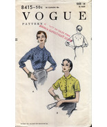 vintage Vogue 8415 Blouse with Tucks Size 32 Bust Button Front Cuff Slee... - $30.00