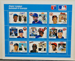 MAJOR LEAGUE BASEBALL IN STAMPS-Recreational-ROBINSON, DEAN & More-FREE ... - $4.95