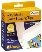 Lineco Self Adhesive Linen Hinging Tape 1.25 in. x 35 ft. white linen tape  - $15.85