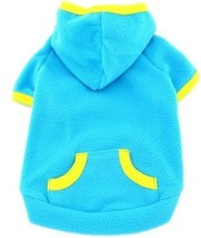 SMALLLEE_LUCKY_STORE Pet Clothes For Small Dog Cat Blank Fleece Coat Ho... - $20.80