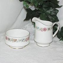 Paragon Belinda Cream & Sugar Bowl Fine Bone China Pink Flowers Creamer Large - $34.39