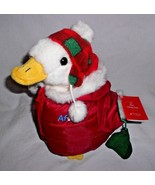 "2008 Macy's Aflac Duck Plush Stuffed Animal Talks 10"" Red Puffer Jacket - $23.64"