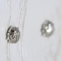 Ohrringe aus Weißgold 750 18K von Säugling, Mini Marienkäfer, Länge 0.5 CM image 2