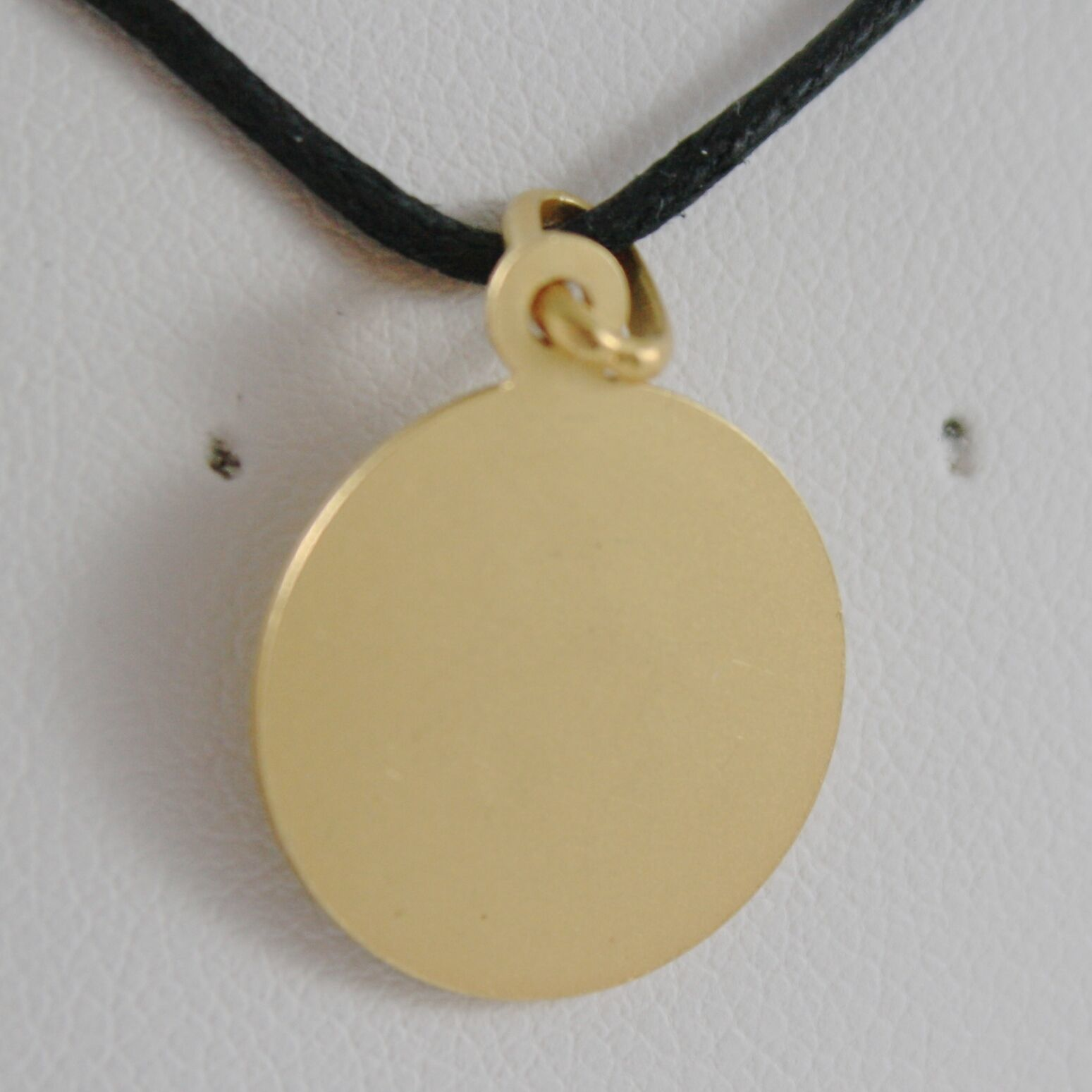 SOLID 18K YELLOW GOLD ST SAINT FRANCIS FRANCESCO ASSISI MEDAL MADE IN ITALY