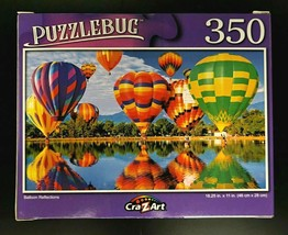 350-PIECE Hot Air Balloon Reflections Over Lake Jigsaw Puzzle SAME-DAY SHIP - $6.46