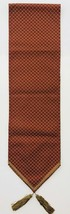 Table Runner Geometric Design Paprika Taupe Elegant With Tassels 12 X 88... - $69.29