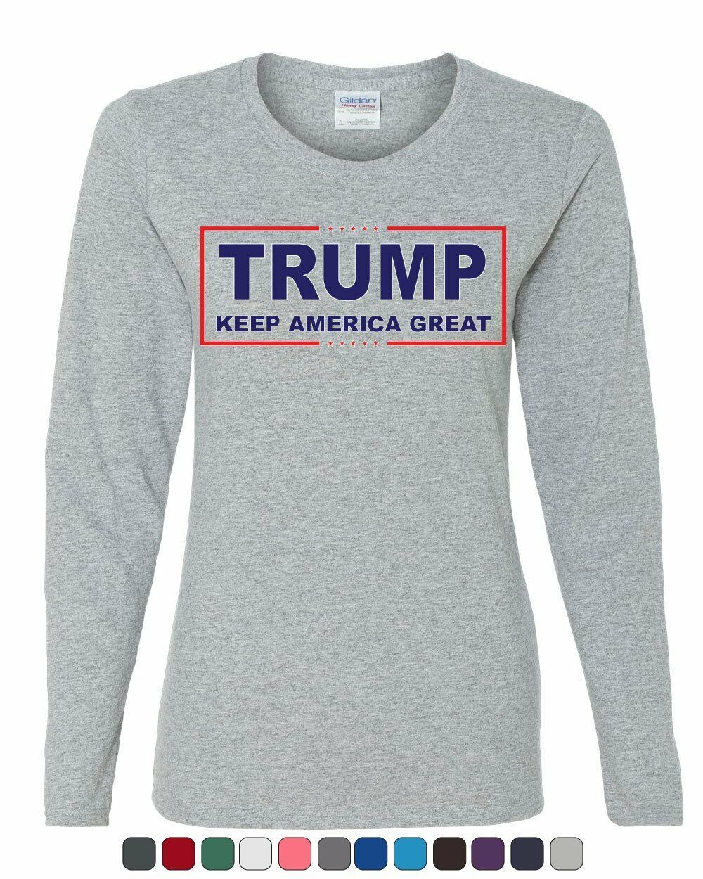 Primary image for Trump Keep America Great Women's Long Sleeve Tee 2020 Election Republican POTUS