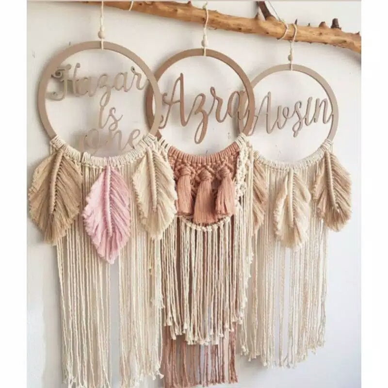 Primary image for Personalized Macrame, Boho Macrame, Macrame, Free name request, wall decor, Rust