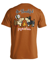Puppie Love Rescue Dog Adult Unisex Short Sleeve Graphic Tee, Be Thankful Pup