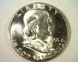 1955 FRANKLIN HALF DOLLAR CHOICE UNCIRCULATED FULL BELL LINES CH UNC. FB... - $35.00