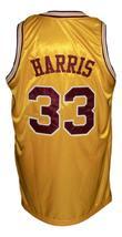 Eric Harris #33 Custom College Basketball Jersey New Sewn Yellow Any Size image 2