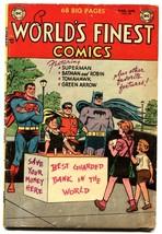 World's Finest #69-1954-Batman Superman Green Arrow Tomahawk DC golden age - $394.06