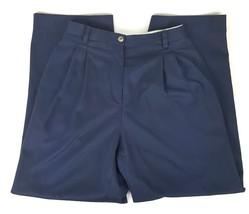 Liz Claiborne LizSport Womens Size 6 Navy Blue Pleated Front Dress Pants... - $13.09