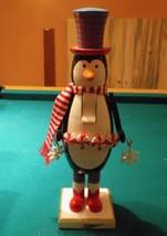 "Penguin Hand Painted Wooden Nutcracker 2008 15"" - $21.29"