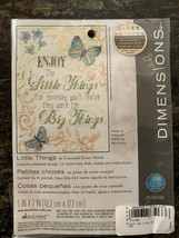 NEW SEALED Dimensions Cross Stitch Kit  Enjoy the Little Things, 70-65133 - $15.00