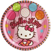 Hello Kitty Balloon Dreams Lunch Plates 8 Per Package Birthday Party Supplies - $4.31