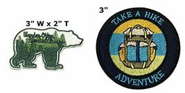 Wander Often Wander Always and Adventure National Park Series 2-Pack Embroidered - $7.89