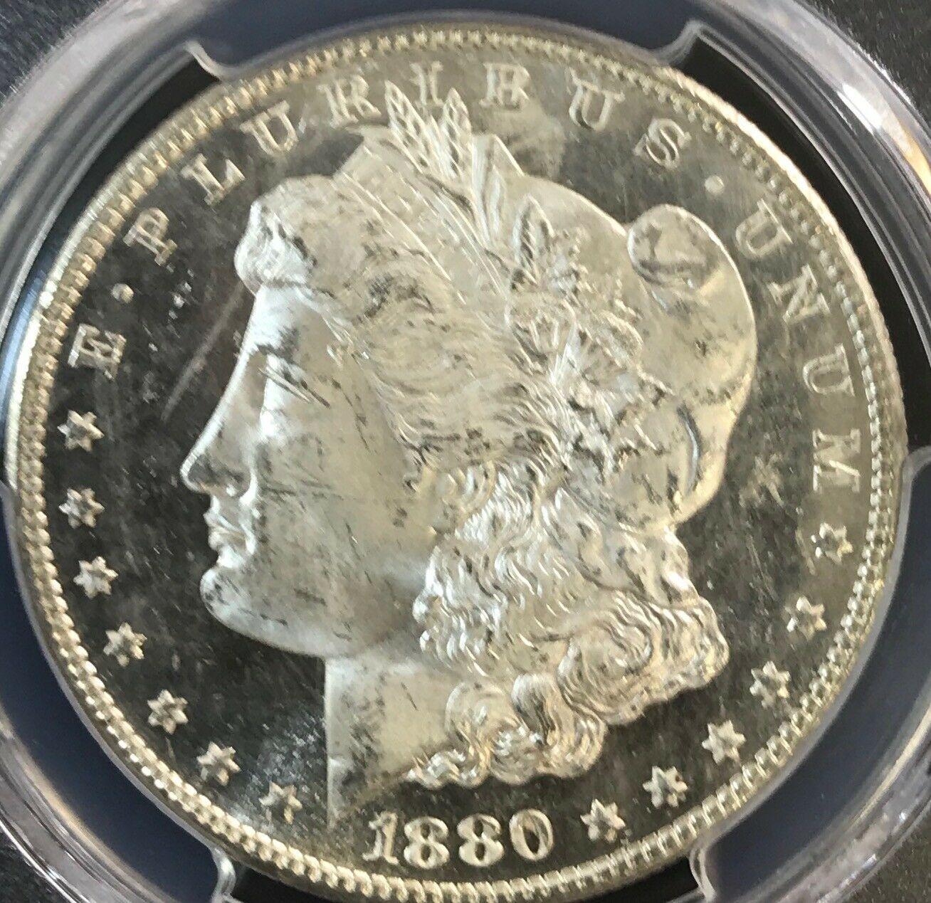 1880/9 S Morgan Silver Dollar PCGS MS64DMPL Deep Mirror Proof Like
