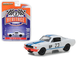 1965 Ford Mustang Shelby GT350 BP #23 Charlie Kemp White with Blue Strip... - $13.18