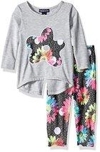 Limited Too Girls' Fashion Top and Legging Set, KS19 Heather Grey, 12M