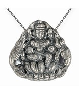 Vinatge Style Gypsy Tribal Oxidized Silver Religious Pendant Antique Jew... - $67.98