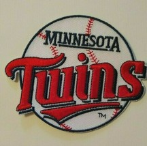"""Minnesota Twins~Embroidered PATCH~3 1/2"""" x 2 7/8""""~Iron Sew On~MLB~US Ships FREE - $4.75"""