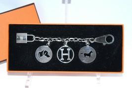 Hermes Breloque Olga Silver Charm Bag Amulette Cadena Palladium Berloque... - $1,871.10