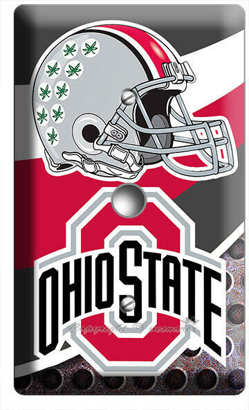 OHIO STATE BUCKEYES UNIVERSITY FOOTBALL TEAM LIGHT DIMMER CABLE COVER ROOM DECOR