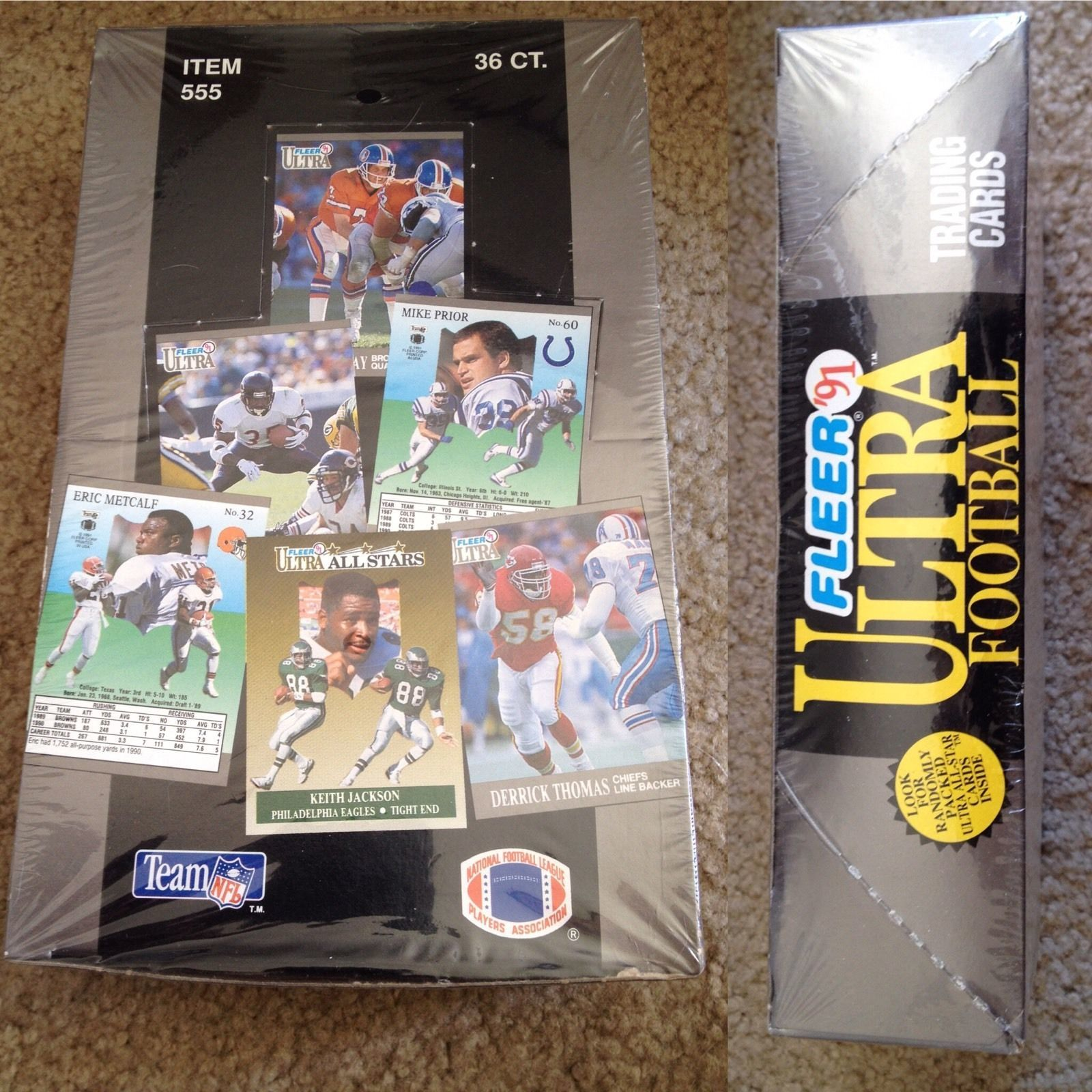 Primary image for 1991 FLEER ULTRA FOOTBALL Box 36 Packs Favre Rookie Possible