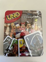 Vtg Disney Parks UNO Card Game Collector Tin Theme Parks Edition Sealed ... - $19.75
