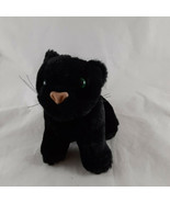 "Black Cat Plush Stuffed Animal Toy 6"" tall Cuddle Kitten 1995 K&M Intern... - $8.90"