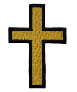 """Christian Cross Fully 100% Embroidered Iron or Sew On Patch 3"""" x 2"""" Jesu... - $4.87"""