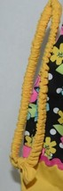 Mon Petit Yellow Black Flowered Babydoll Top Bloomers Elastic Headband 24 Month image 2