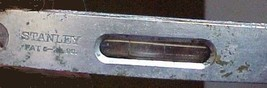"Stanley 4"" Nickel Plated Cast Iron Machinist Level  ""Pat. 6. '96"" - $8.55"