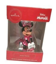 Minnie Mouse Disney Christmas Ornament Pink Polka Dot Dress White Gloves - £15.52 GBP