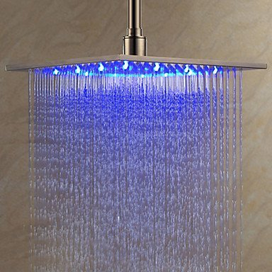 Primary image for 12 inch Stainless Steel Shower Head with Color Changing LED Light